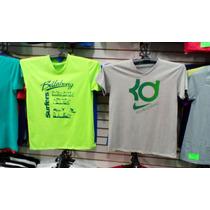 Franela 100% Algodon Nike, Quiksilver, Billabong