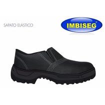 Sapato De Couro Com Elástico Com Bico De Aço - Imbiseg - Epi