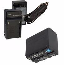 Kit Duas Baterias Np-f960 + Um Carregador P/ Sony Hxr-mc2500