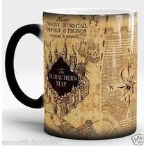B Taza Mágica Harry Potter Mapa Merodeador ¡con Tu Nombre!