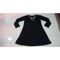 Vestido Liso Marrom Café Pedrarias Plus Size - Viscolycra