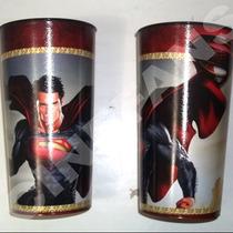 Superman Hombre De Acero Vaso De Coleción No Usado Cinefans