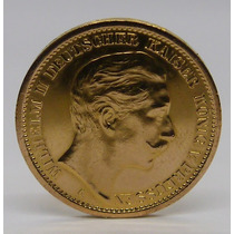 Bellisima Moneda Alemana Oro Macizo 22 - 20 Mark - Data 1906