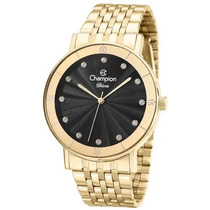 Relógio Champion Feminino Dourado Cn29703u Original