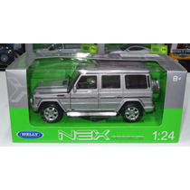 1:24 Mercedes Benz Clase G Plata De Welly C Caja