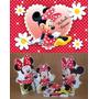 Kit Minnie Vermelha 8 Peças + Painel Em Lona 2,00x1,40mt