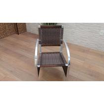 Cadeira Poltrona Alumínio Area Varanda Junco Fibra Sintética
