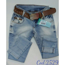 Calça Feminina Jeans Oppnus Cigarrete Skinny Lycra 2529