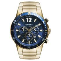 Promoção Relógio Orient Dourado Chronograph Mgssc007 D2kx