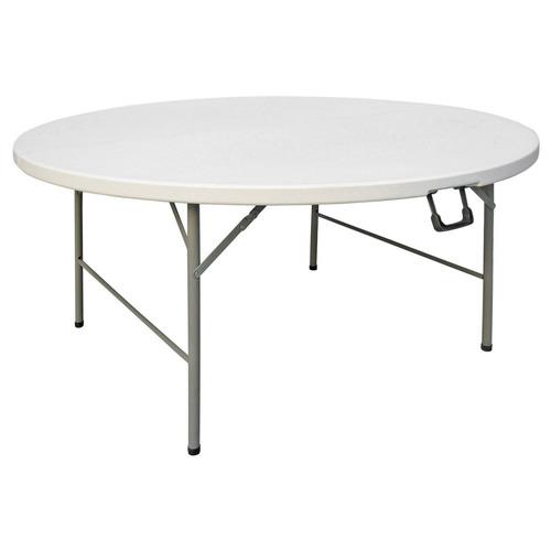 Kit mesa redonda plegable y 8 sillas 5 en for Mesa plegable mercado libre