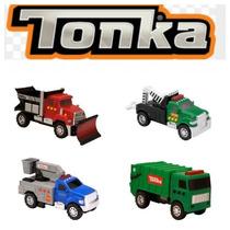 Tonka X 4 Camiones De Construccion. Sonidos Y Luces.