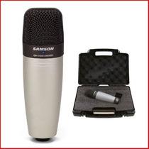 Micrófono Condenser Samson C01 Profesional + Estuche Mic Co1