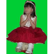 Zapatos + Vestido De Niña Navidad Fabricado En Usa Talla 4