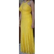 Vestido De Festa Renda Amarelo Vários Modelos