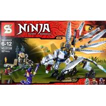 Ninja Go Dragon De Titanio Zane Plateado Minifigura Marca Sy