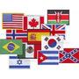 Parches Bordados Banderas Apliques Paises 9x6 Cm