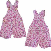 Jardineira Florida Shorts Feminina Infantil - 010193