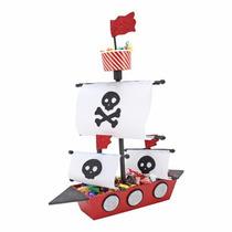 Centro De Mesa Cumpleaños Presentación Barco Pirata Foamy