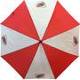 Paraguas Gigante River Plate Blanco Y Rojo Con Escudo