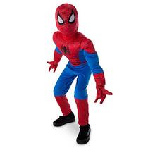 Disfraz Spider Man Disney Store Traje Con Luz Hombre Araña