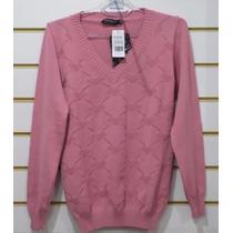 Suéter Feminino Biamar - Tricot Trabalhado - Rosa