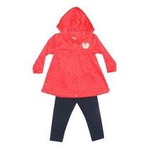 Conjunto Infantil Menina Blusa De Plush Com Capuz