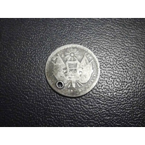 Guatemala 1 Peso Rafael Carrera Fecha 1865 Plata