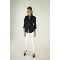 Camisa Sport Fino Feminina De Algodão Slim Fit Fashion 7