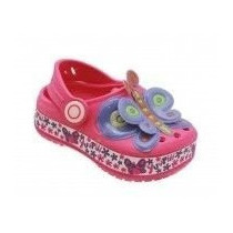 Atacado12 Sapato Infantil Borboleta Pink Igual Crocs Babuche