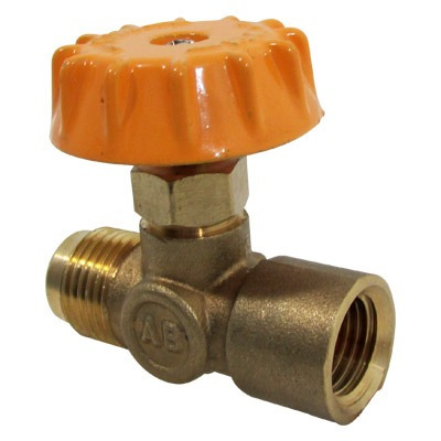 Llave para gas 3 8 flare 1 4 hnpt bronce anbec for Llave de paso automatica