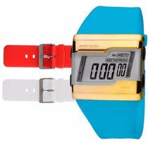 Relógio Mormaii Digital Kit Troca Pulseira Fza/v8a
