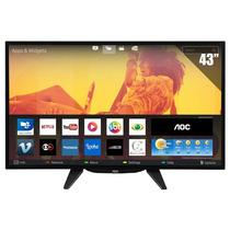 Smart Tv Led 43 Aoc, Full Hd, 3 Hdmi, 2 Usb E Wi-fi