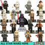 Exclusivo Set 17 Figuritas Star Wars Lego Comptbl Selladas