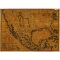 Lienzo Tela Mapa República Mexicana. 77 X 90 Cm. Original