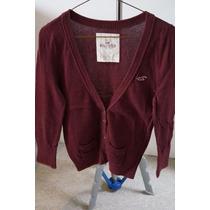 Sweater Hollister Talla L Color Vino