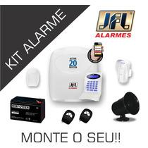 Kit Central De Alarme + Acessórios Jfl Faça O Seu