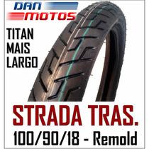 Pneu Moto Strada Traseiro 100/90/18 - Remold