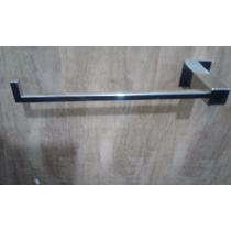 Kit 1 Porta Toalha Rosto 1 Porta Papel Higienico Inox