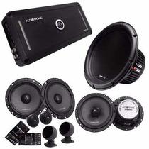 Kit Audiophonic Club 5.1dhp+kc6.3+cb650v3+c1-12d4+rca Club