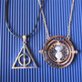 Harry Potter - Pack -giratiempo + Collar Reliquias Giratorio