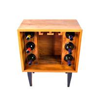 Movel Mini Bar Em Madeira, Vinhos Taças Armazenamento