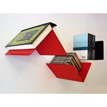 Estante Repisa Biblioteca Flotante Multiuso Fly Diseño