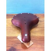 Rm Asiento De Piel Chocolate Para Bicicleta