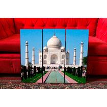 Cuadros Taj Mahal. India. Paisajes. Tríptico. Decoración.