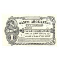 Banco Argentino Cordoba 1 Real 1870´s Ps 1472 Provincial Rrr