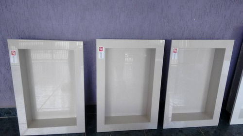 Nicho De Porcelanato Para Banheiro Travertino Pronta Entrega  R$ 250,00 em M -> Nicho Banheiro Porcelanato Preco