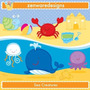 Kit Imprimible Animalitos Fondo Del Mar 10 Imagenes Clipart