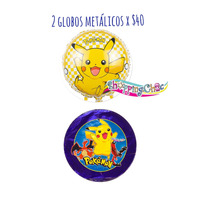 Pokemon Go Pikachu 2 Globos Metálicos 18