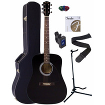 Guitarra Acustica Fender Fa-100 Dreadnought Negra