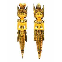 Escultura Casal Rama E Sita 60cm P/ Parede - Amor Eterno